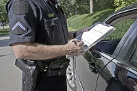 Office writing ticket for texting while driving